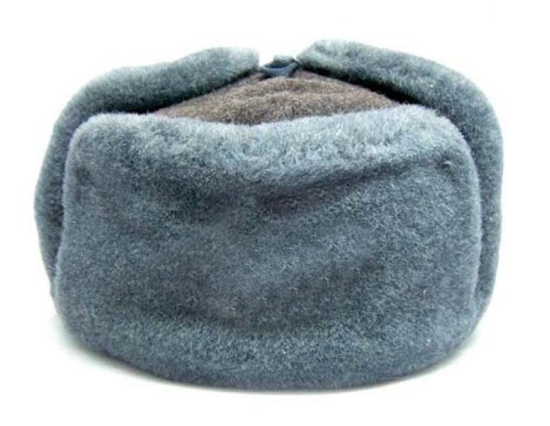 Военная шапка ушанка СССР Материал  искусственный мех  Цвет   голубой Производитель  СССР 170f6467254b5