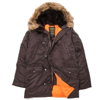 Куртка Alpha Industries N-3B Slim Fit Parka Deep Brown