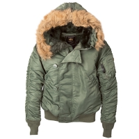 Куртка Alpha Industries N-2B Flight Jacket Sage Green