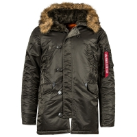 Куртка Alpha Industries N-3B Parka Slim Fit (Rep. Grey)