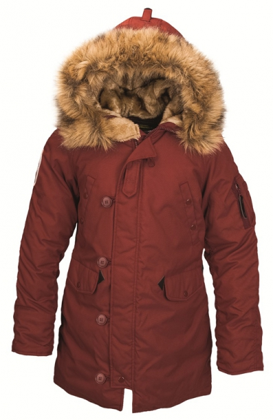 Женская куртка Alpha Industries Altitude W Parka Red Ochre