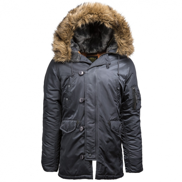 Куртка Alpha Industries N-3B Parka Slim Fit Steel Blue