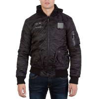 Куртка-бомбер MA-1 Hooded New York X-Ray (black camo)