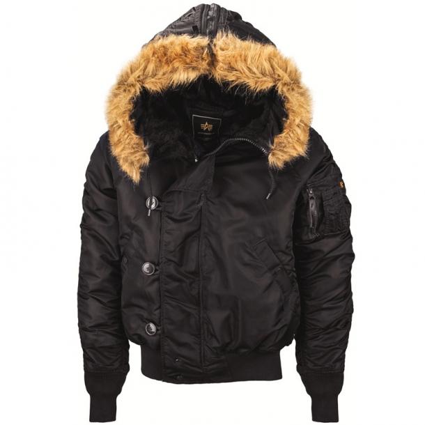 3f2d7207 Куртка пилот зимняя Alpha Industries N-2B Parka Black купить в Санкт ...