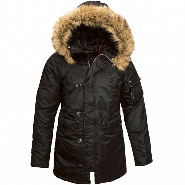 e84ab10e Женская куртка аляска Alpha Industries N-3B W Parka Black купить в ...