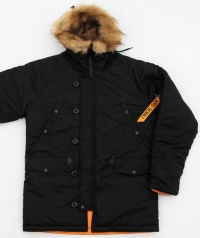 Куртка аляска Nord Denali Husky black/orange
